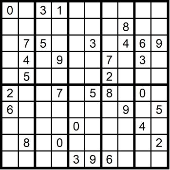 Sudoku sehr schwer 2x5